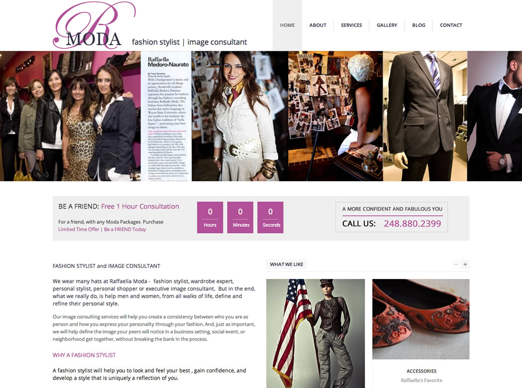 web design fashion stylist